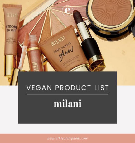 Milani Vegan Product List (2019)
