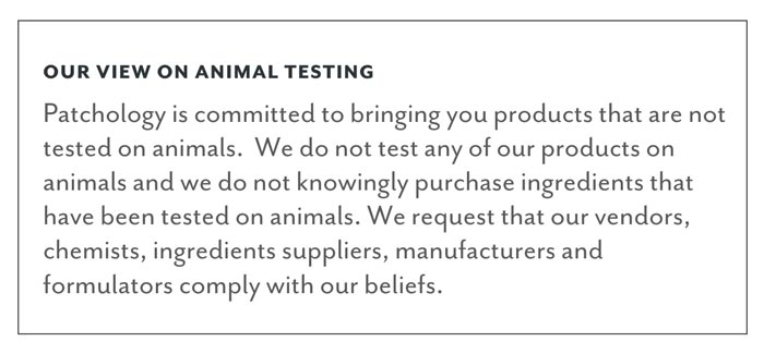 Patchology's Animal Testing Statement