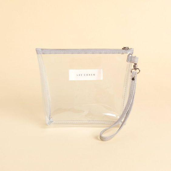 Small Clear Zip Pouch Wristlet - Lee Coren