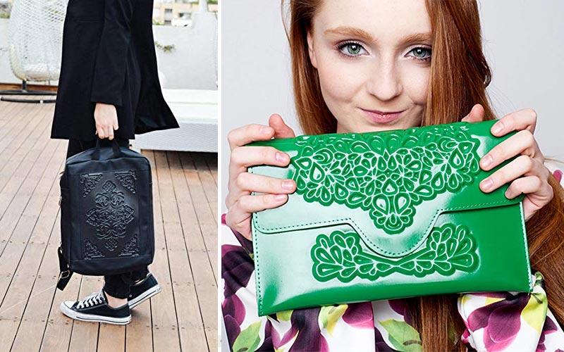 Medusa handmade vegan handbags on Amazon.