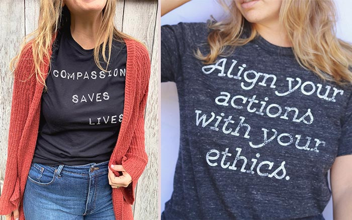 Threads for Love - Vegan Etsy Shirts