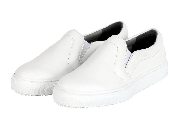 BAHATIKA's Malkia White Vegan Slip-On Sneakers