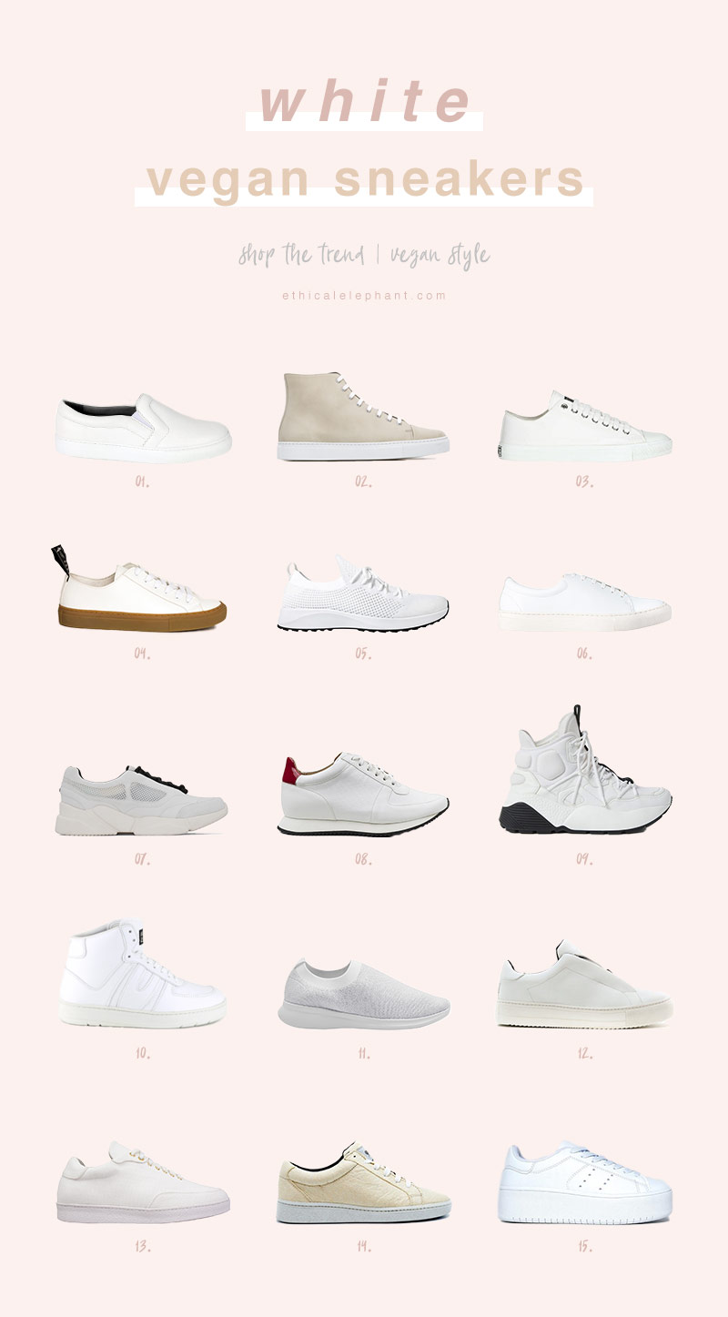 The 15 Best White Vegan Sneakers in