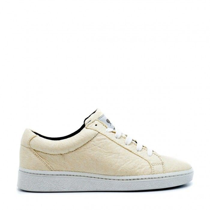 NAE's Basic White Vegan Sneakers made with Pineapple Leather