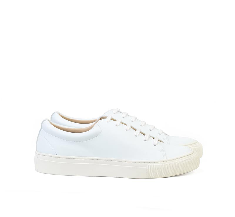 Sydney Brown's Low White Vegan Sneakers
