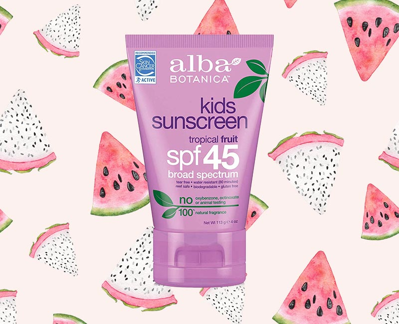 Alba Botanica Tropical Fruit Kids SPF 45 Sunscreen