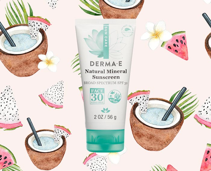 DERMA E Sun Defense Mineral Oil-Free Sunscreen Face