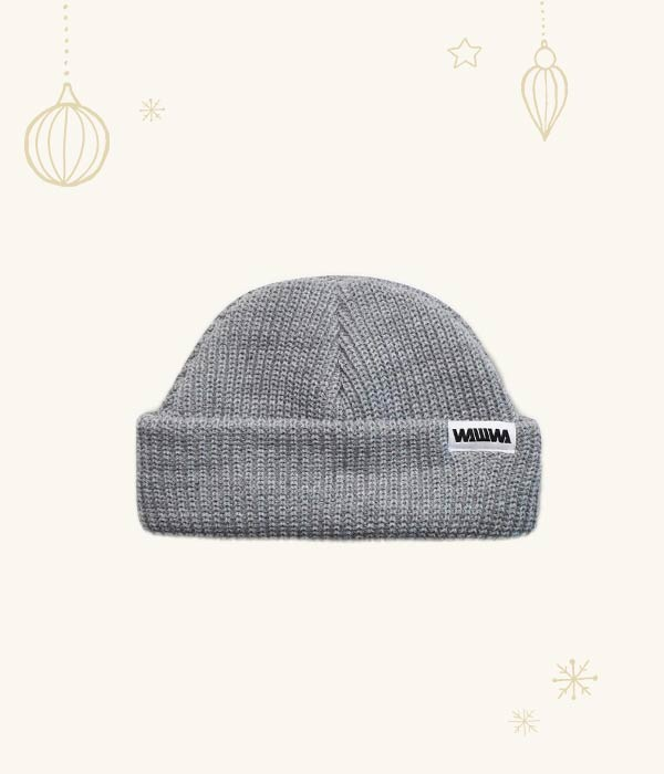 Grey Fisher Beanie - WAWWA