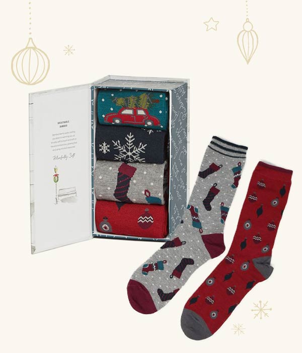 Christmas Eve Bamboo Sock Gift Box - Thought