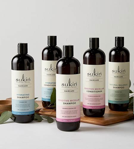 Sukin affordable range of 100% vegan and organic shampoo