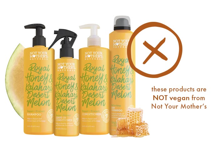 Not Your Mother's Royal Honey & Kalahari Melon Line is NOT vegan
