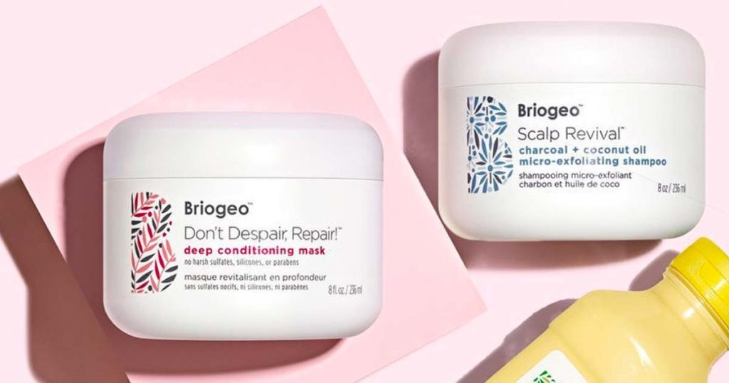 Briogeo Don't Despair, Repair Deep Conditioning Mask and their Scalp Revival Charcoal + Coconut Oil Shampoo