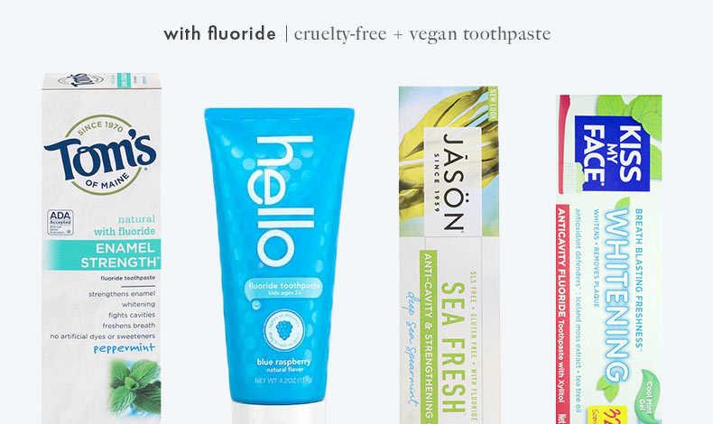 Cruelty-Free Vegan Fluoride Toothpaste: Tom's of Maine, Hello, JASON, and Kiss My Face