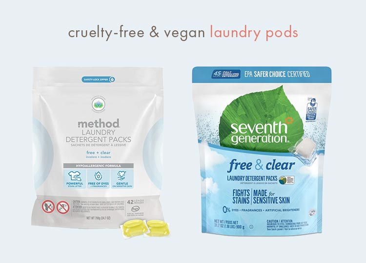 vegan and cruelty-free laundry pods