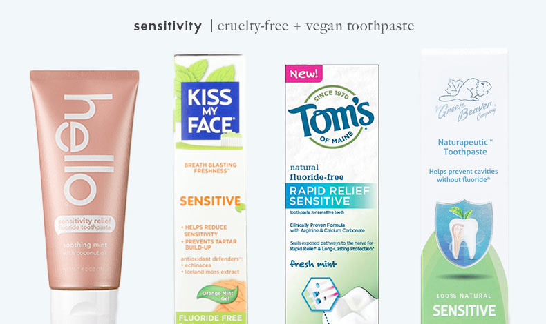 Cruelty-Free Vegan Sensitivity Toothpaste: Hello, Kiss My Face, Tom's of Maine, and Green Beaver