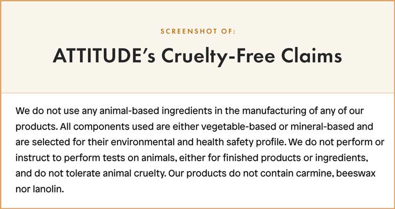 ATTITUDE Cruelty-Free Claims