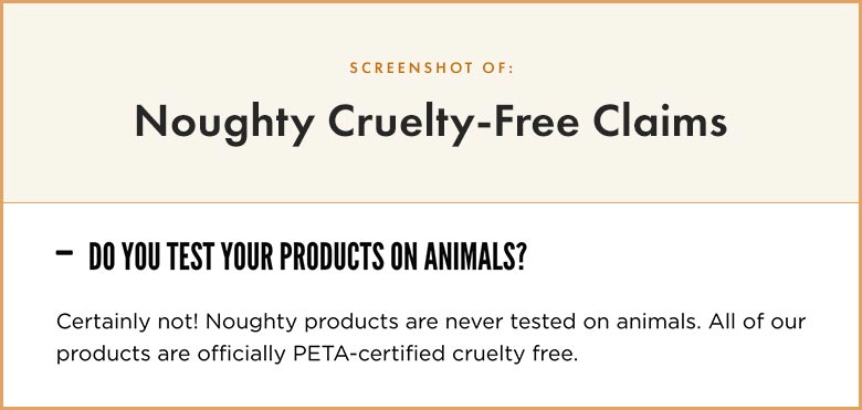 Noughty Cruelty-Free Claims