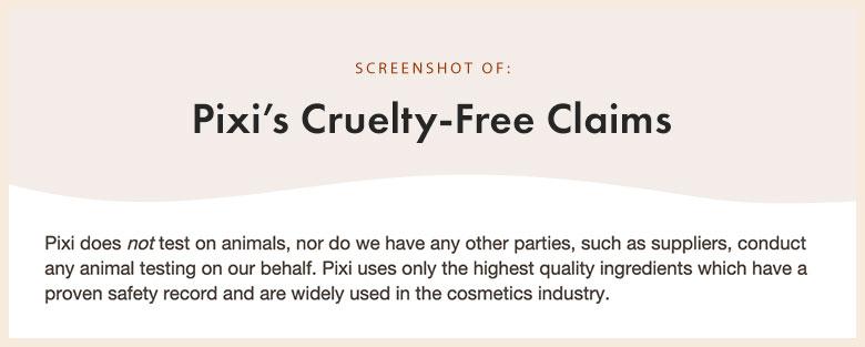 Pixi Cruety-Free Claims