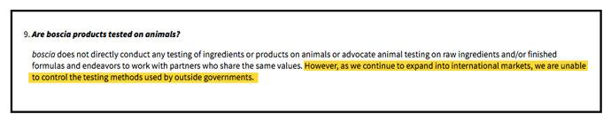 Boscia Animal Testing Policy 2017