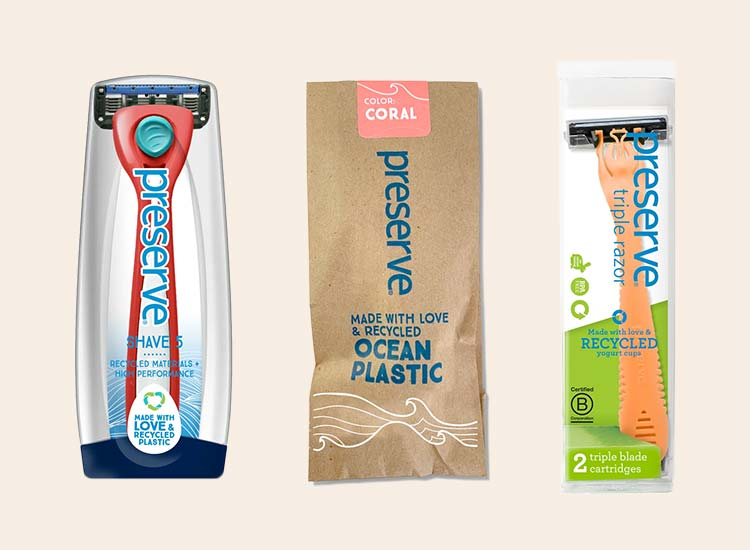 Preserve Cruelty-Free and Vegan Razors Made From Recycled Plastic
