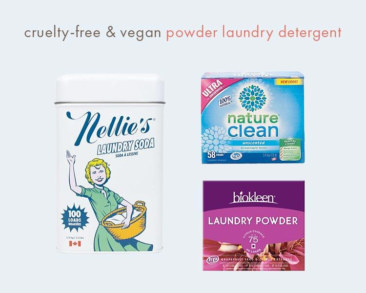 cruelty-free vegan powder laundry detergent
