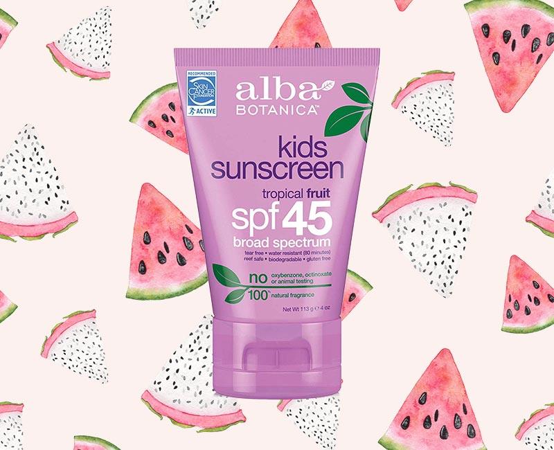 Alba Botanica Tropical Fruit Kids SPF 45 Sunscreen