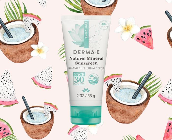 DERMA E Sun Defense Mineral Oil-Free Sunscreen Face