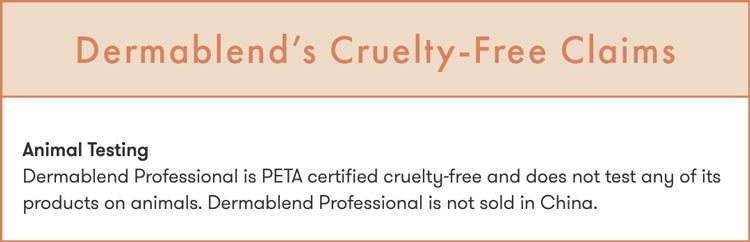 Dermablend cruelty-free claims