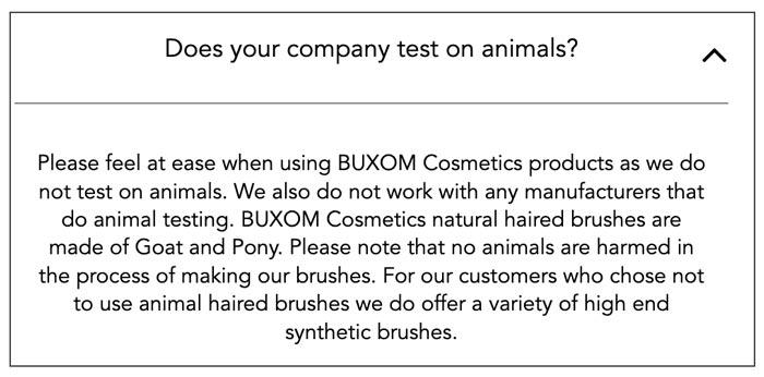 Does Buxom Test on Animals? | Buxom's Animal Testing Statement 2019