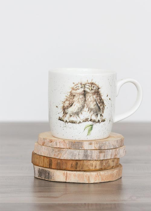 sustainable wood coaster set made from hand-picked driftwood logs