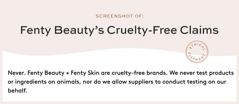 Fenty Skin Cruelty-Free Claims