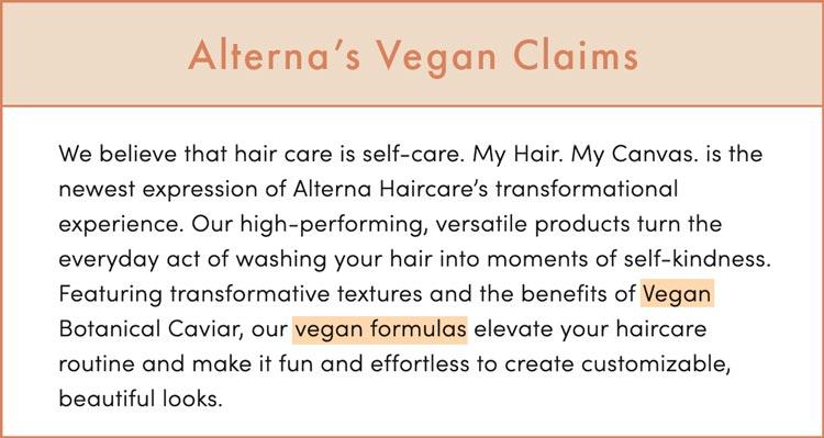 Alterna Vegan Claims