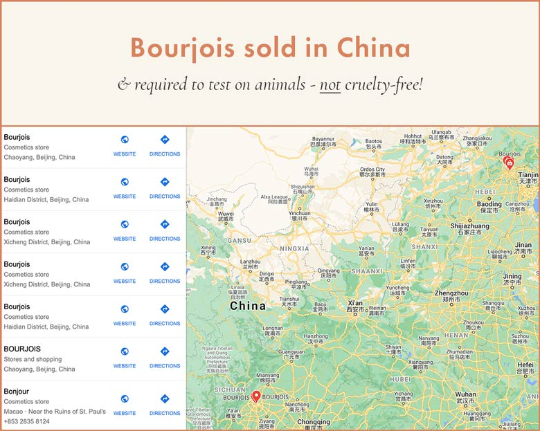 Bourjois Sold in China; Cannot Be Cruelty-Free!