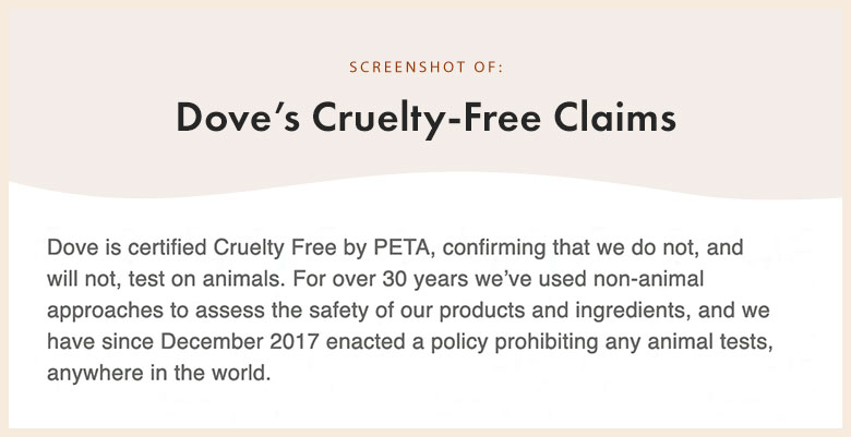 Dove's Cruelty-Free Claims