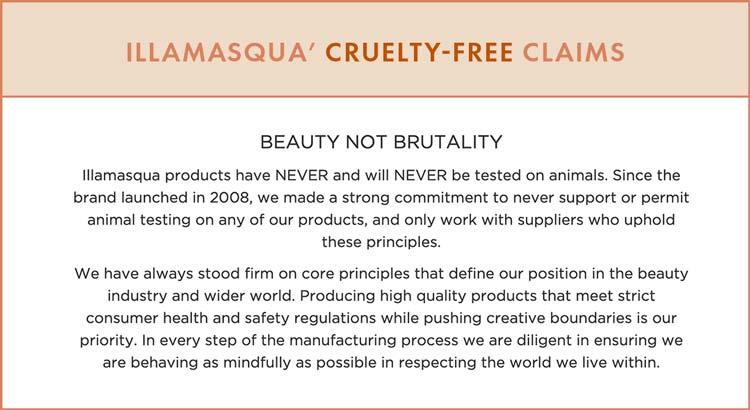 Illamasqua Cruelty-Free Claims