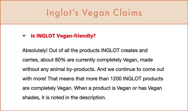 Is Inglot Vegan?