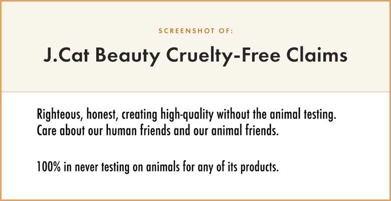 J Cat Beauty Cruelty-Free Claims