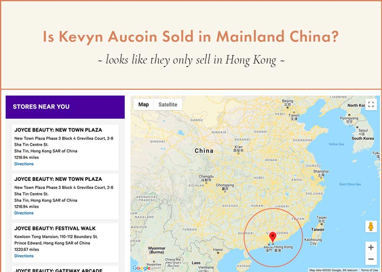 Kevyn Aucoin Selling in Hong Kong stores, not in mainland China ~ Not required to test on animals