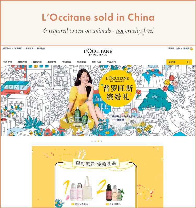 L'Occitane Sold in China; Cannot Be Cruelty-Free