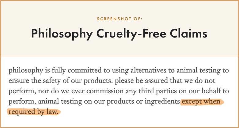Philosophy Cruelty-Free Claims