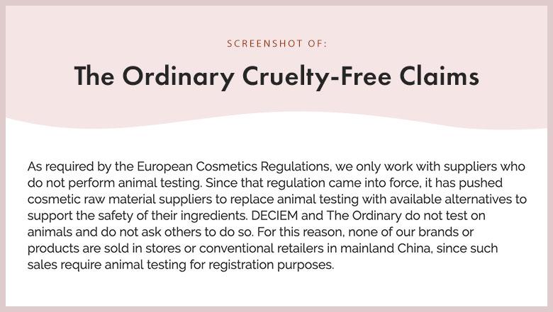 The Ordinary Cruelty-Free Claims
