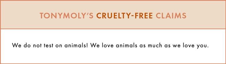 TONYMOLY Cruelty-Free Claims