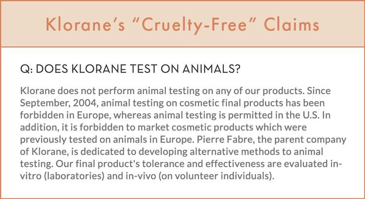 Klorane Cruelty-Free Claims