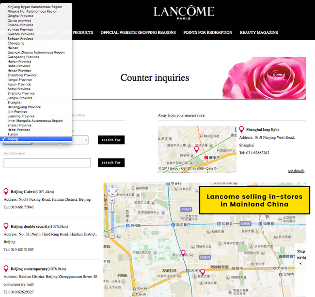 Lancome Sold in China; Cannot Be Cruelty-Free