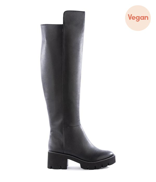 Vegan Leather Thigh High Boots by BC Footwear