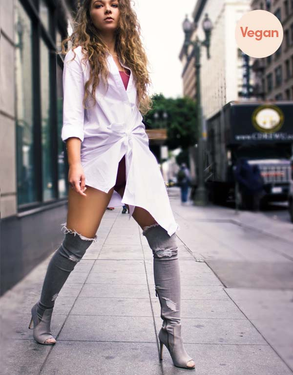 Denim Over the Knee Boots by Blue District