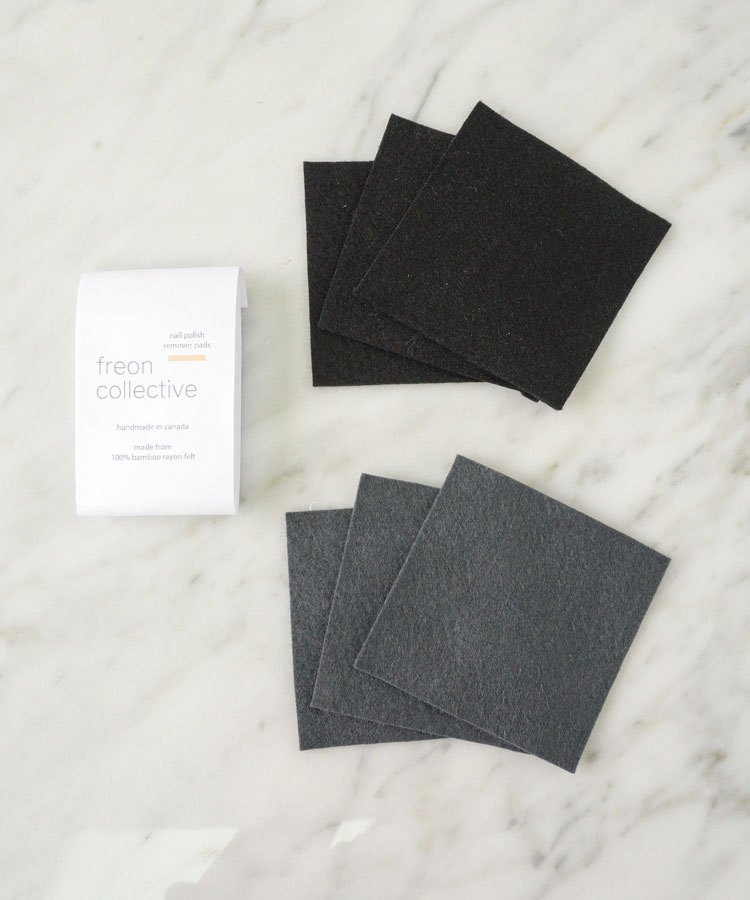 6 pack of reusable nail polish remover wipes