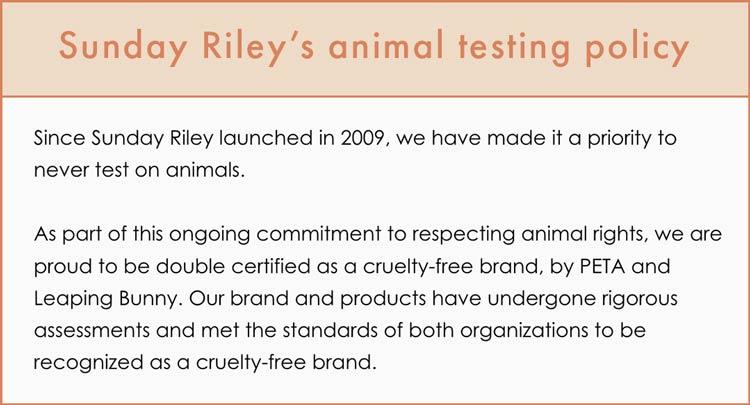 Sunday Riley Cruelty-Free Claims