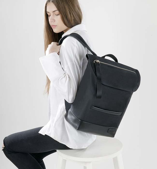 Vegan Backpack made from Recycled Materials by Charlie Feist
