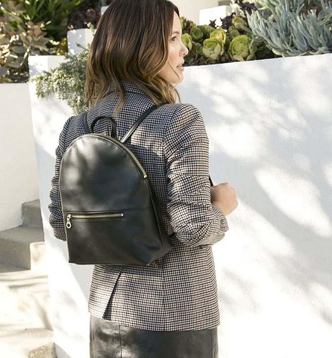 Petite Black Vegan Backpack by Filbert
